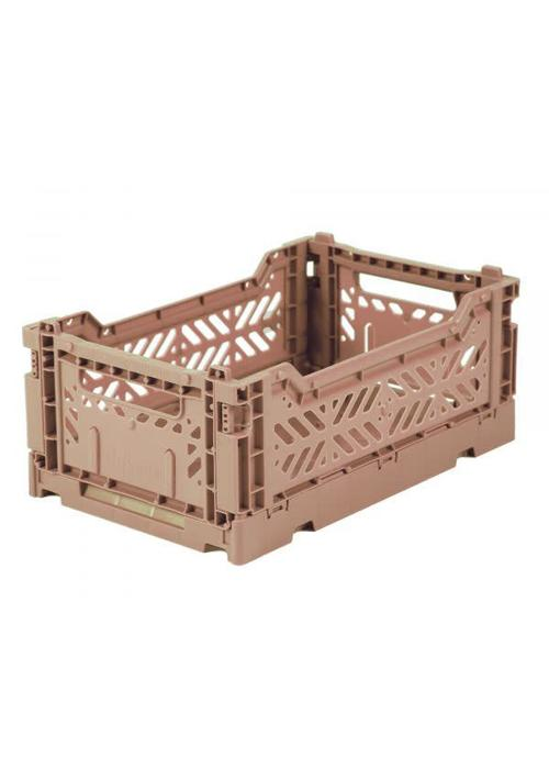 Eef Lillemor Lillemor Folding Crate  Mini - warm taupe