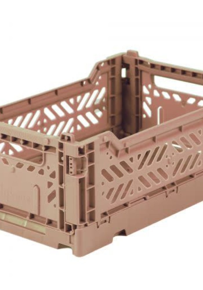 Lillemor Folding Crate  Mini - warm taupe
