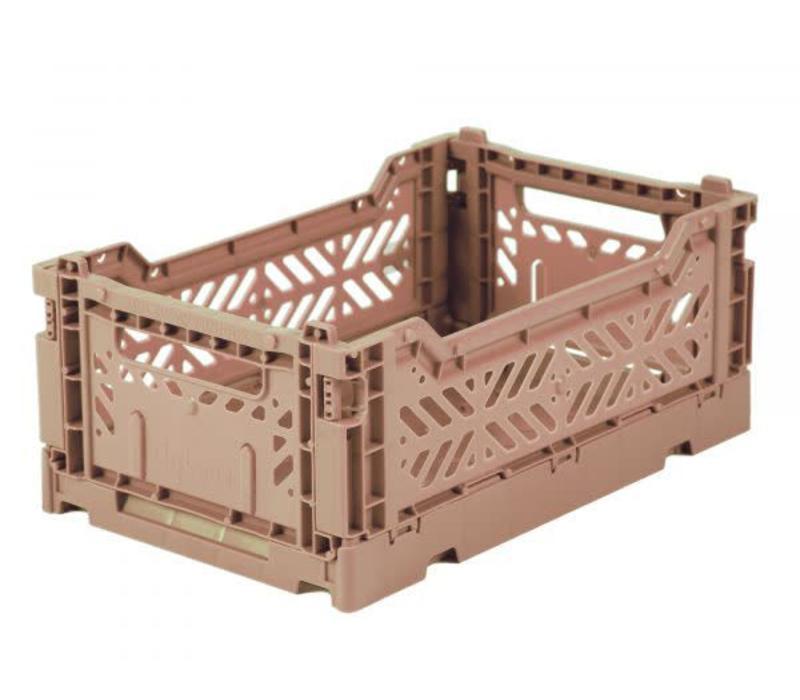 Lillemor Folding Crate  Mini - warm taupe