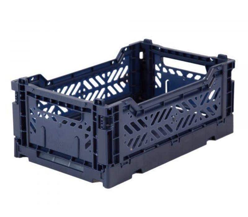Lillemor Folding Crate Mini - navy