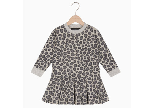 House of Jamie House of Jamie Pleated Dress - rocky leopard