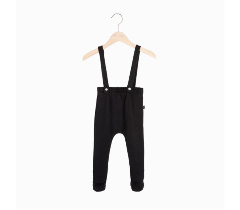 House of Jamie Baby Suspender Pants - black