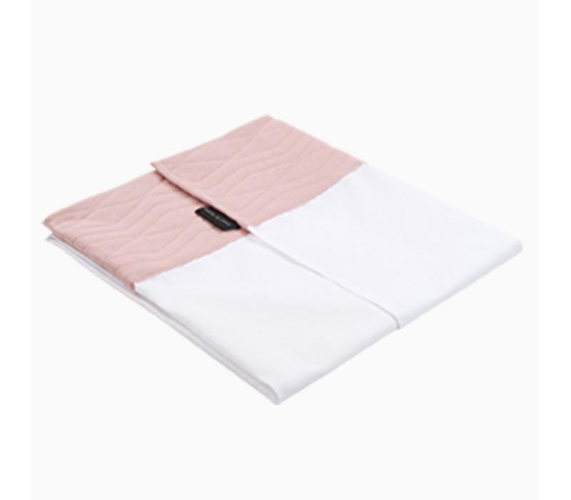 House of Jamie Crib Sheet Geometry Jacquard - powder pink