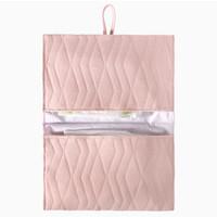 House of Jamie Nappy Pouch Geometry Jacquard - powder pink