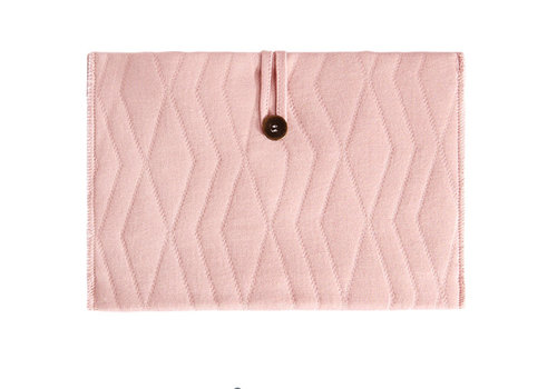House of Jamie House of Jamie Nappy Pouch Geometry Jacquard - powder pink