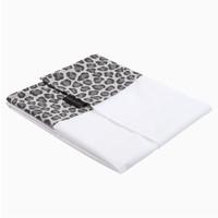 House of Jamie Crib Sheet Geometry Jacquard - rocky leopard