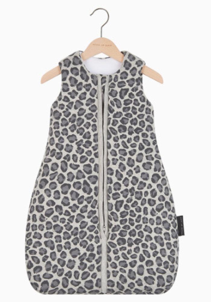 House of Jamie Sleeping Bag Baby Geometry Jacquard - rocky leopard
