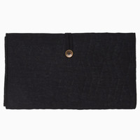 House of Jamie Travel Changing Mat Geometry Jacquard- black