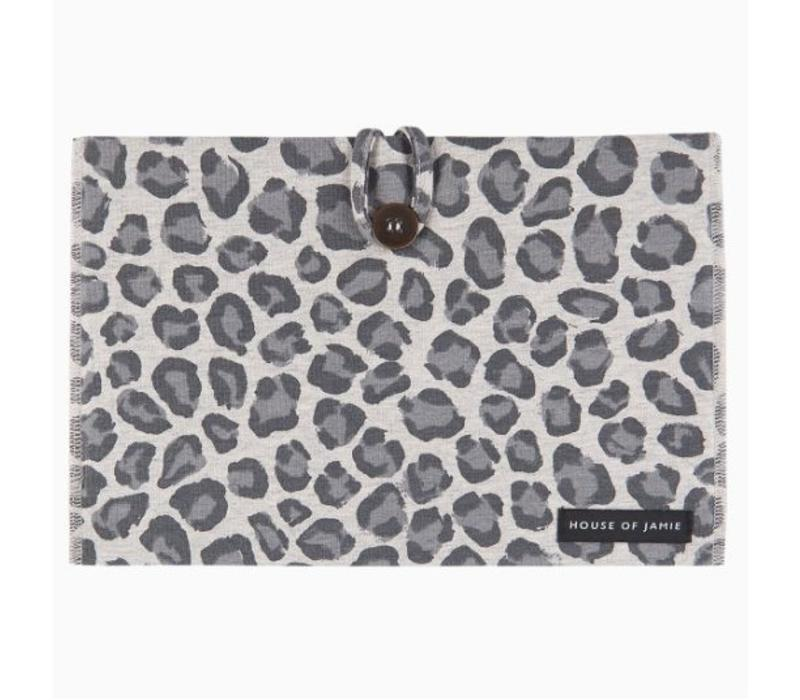 House of Jamie Nappy Pouch Geometry Jacquard - rocky leopard