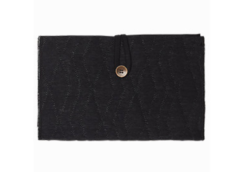 House of Jamie House of Jamie Nappy Pouch Geometry Jacquard - black