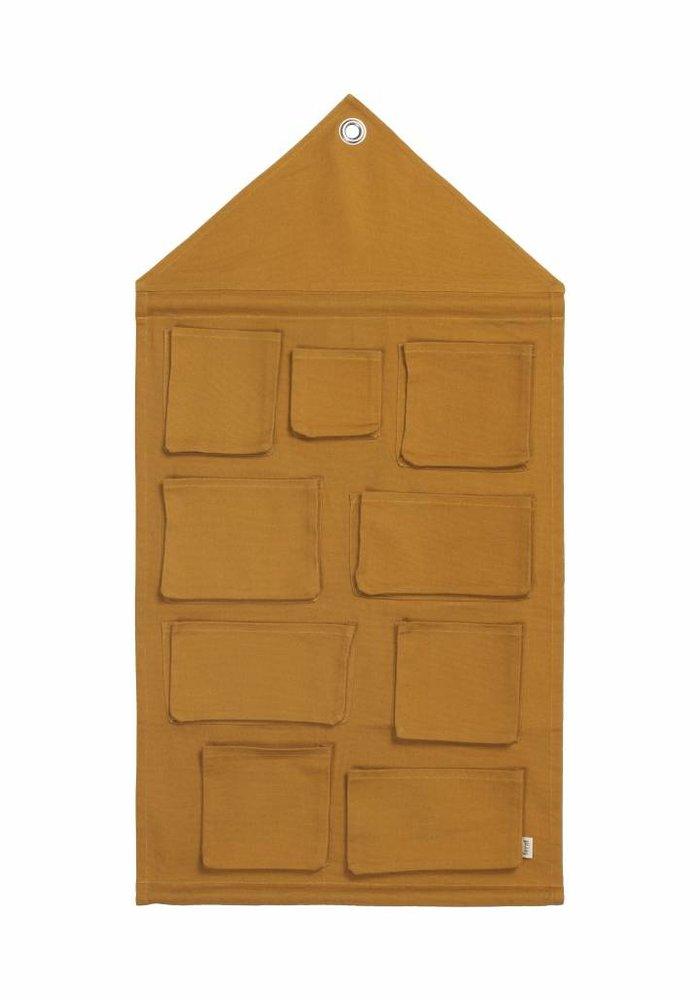 Ferm Living House Wall Storage - mustard