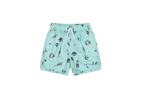Soft Gallery Soft Gallery Oliver Swim Pants - ocean wave space swim