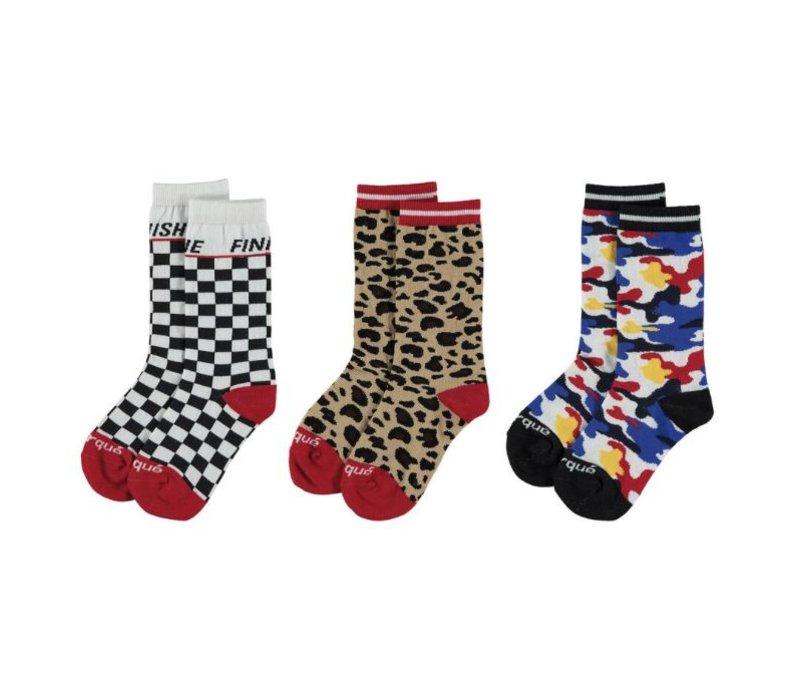 Yporqué All Over Socks - camo rainbow