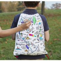 Eatsleepdoodle World Map backpack