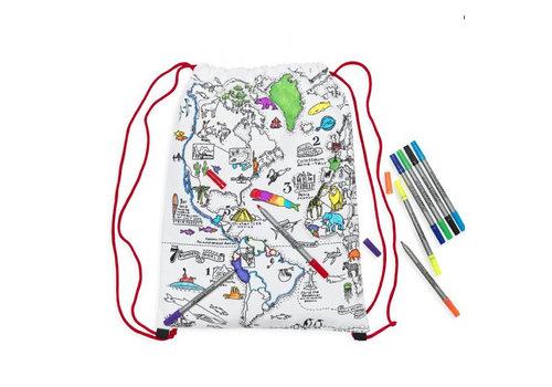 Eatsleepdoodle Eatsleepdoodle World Map backpack