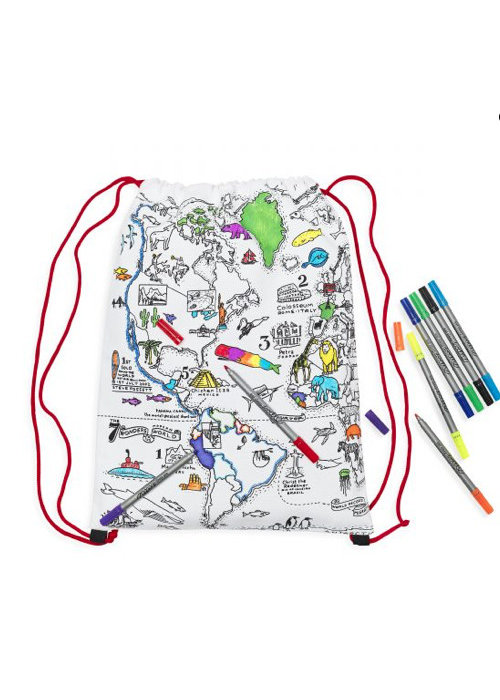 Eatsleepdoodle Eatsleepdoodle World Map backpack