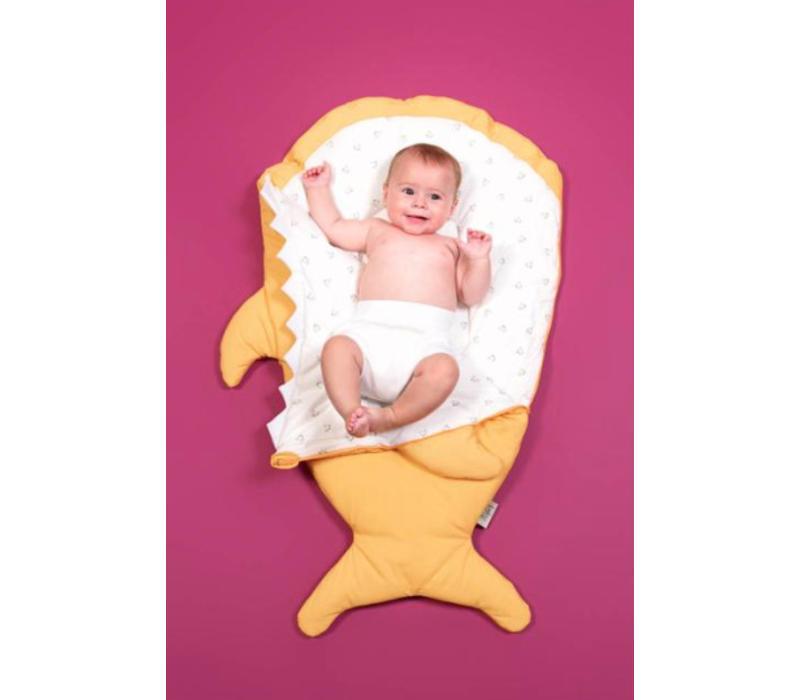 Babybites Shark Baby - Mustard