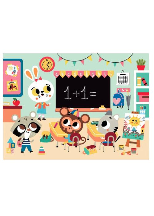Petit Monkey Petit Monkey Puzzle At School 24 pcs/ 3yrs+