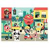 Petit Monkey Petit Monkey Puzzle In the City 48 pcs/ 4 yrs+