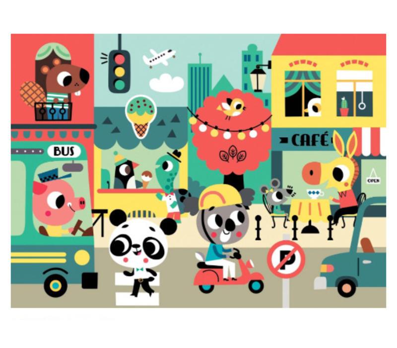 Petit Monkey Puzzle In the City 48 pcs/ 4 yrs+