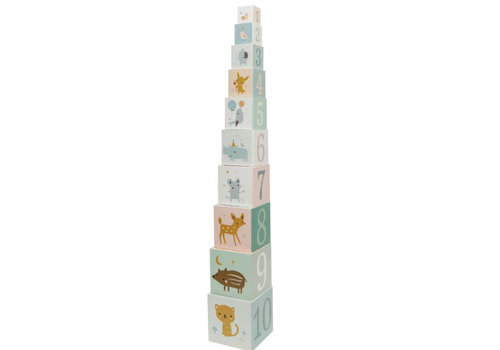 Petit Monkey Petit Monkey Stacking Blocks Forest Friends