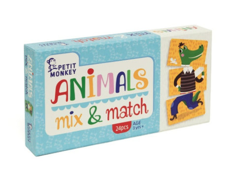 Petit Monkey Petit Monkey Animals Mix & Match 3 yrs+