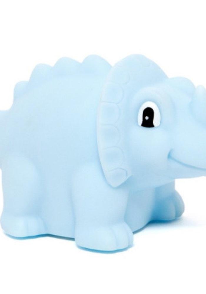 Petit Monkey Night Light Dino Triceratops Blue