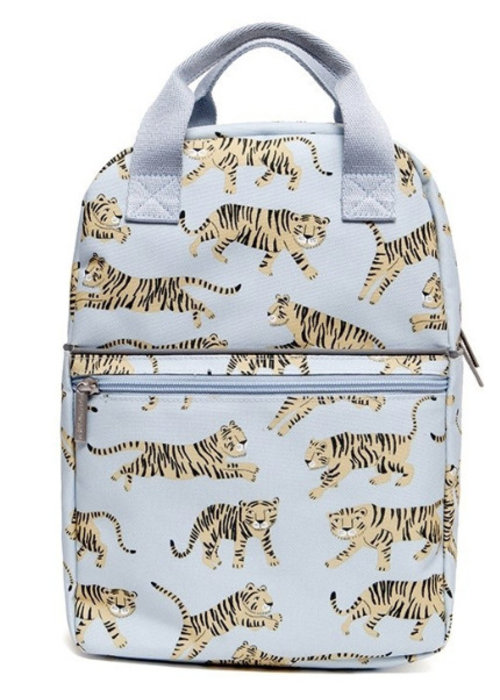 Petit Monkey Petit Monkey Backpack Tigers Grey Large