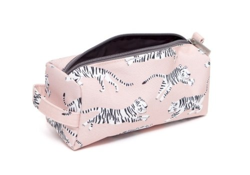 Petit Monkey Petit Monkey Pencil Case White Tigers