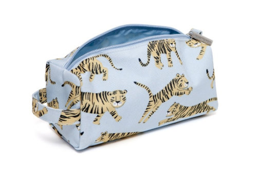 Petit Monkey Petit Monkey Pencil Case Tigers Grey