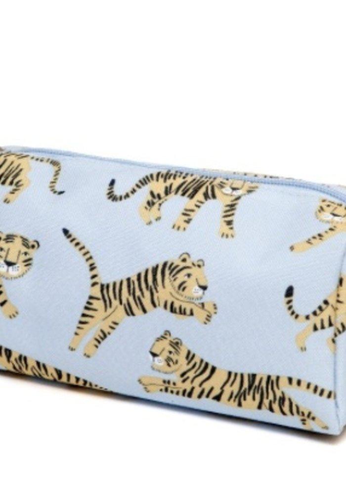 Petit Monkey Pencil Case Tigers Grey