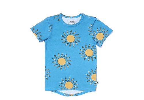 CarlijnQ CarlijnQ Big Sun T-shirt Shirt Sleeve Drop Back