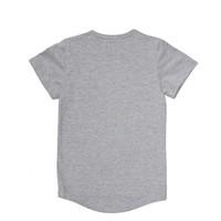 CarlijnQ Kiss Goodbye T-shirt Short Sleeve Drop Back - grey