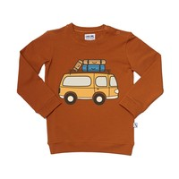 CarlijnQ Road Trippin' Sweater With Van Print