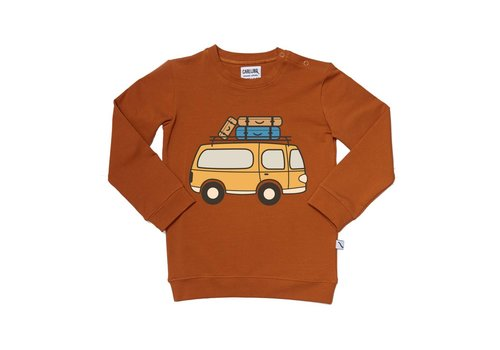 CarlijnQ CarlijnQ Road Trippin' Sweater With Van Print
