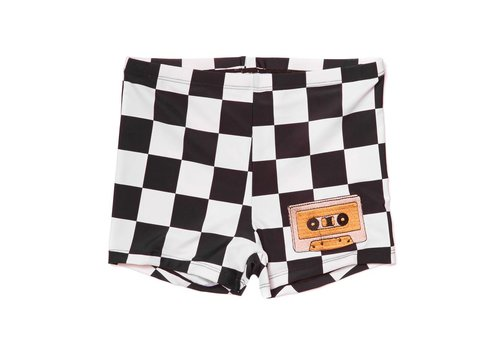 CarlijnQ CarlijnQ Checkers UPF50+ Swimshorts - casette print