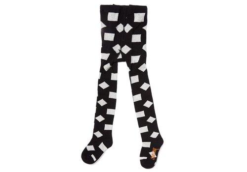 CarlijnQ CarlijnQ Tights Checkers - black/off-white