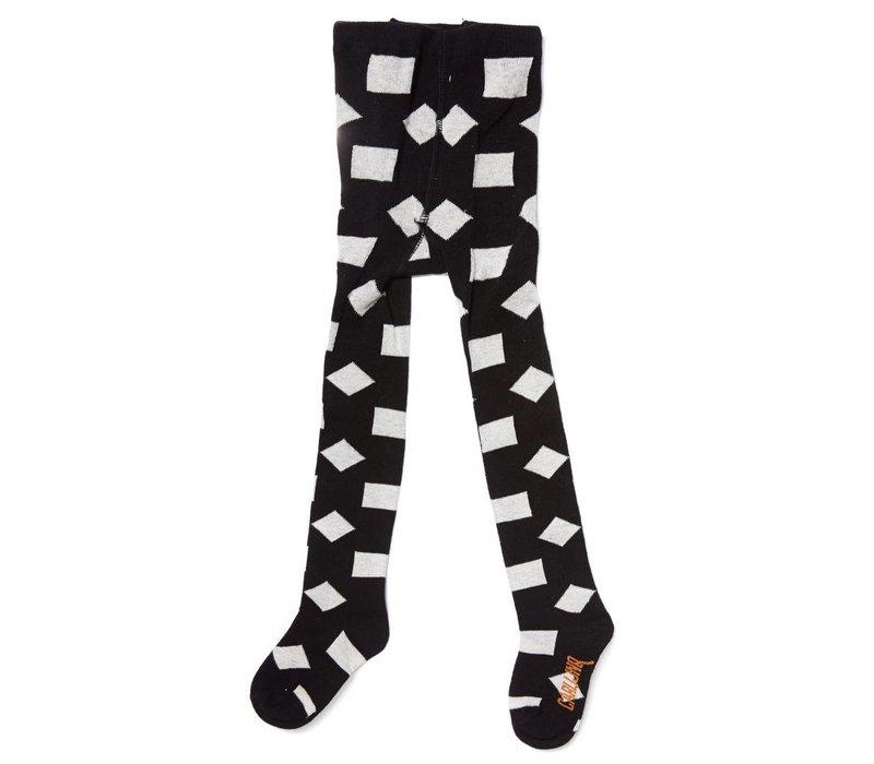 CarlijnQ Tights Checkers - black/off-white