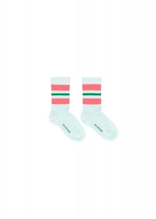 Tinycottons Tinycottons STRIPES Medium Socks - light mint/rose