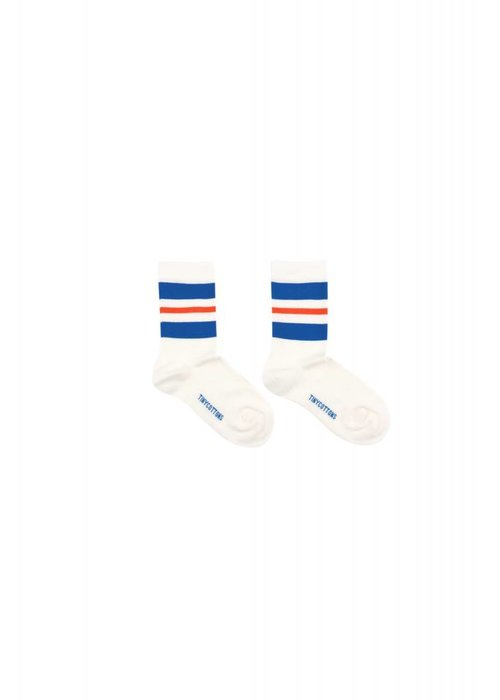 Tinycottons Tinycottons STRIPES Medium Socks - off-white/ultramarine