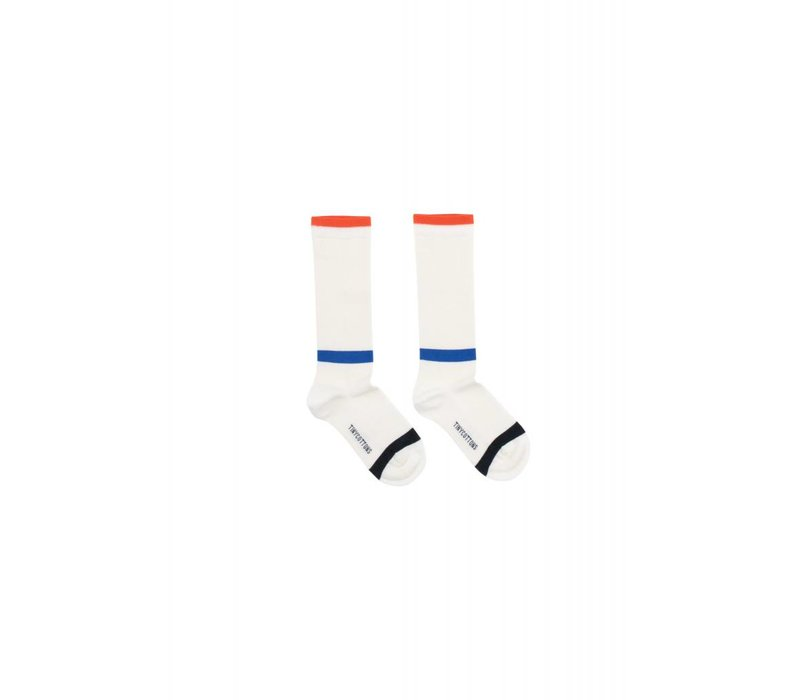 Tinycottons LINES High Socks - off-white