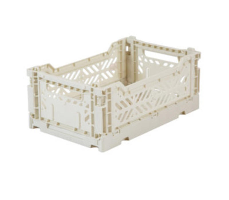 Lillemor Folding Crate  Mini - light grey