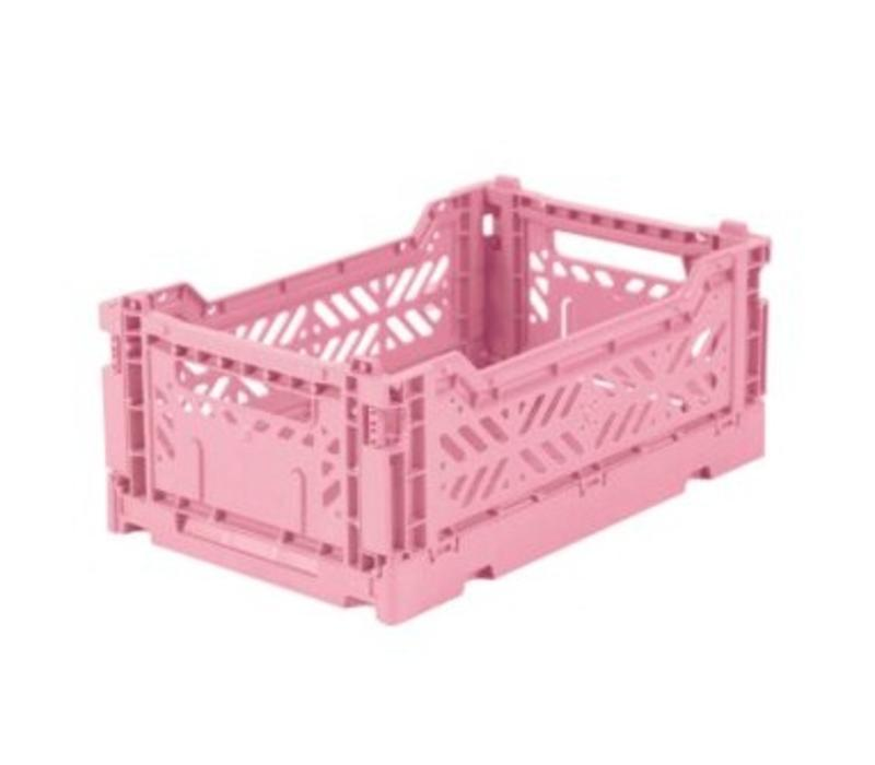 Lillemor Folding Crate  Mini - baby pink