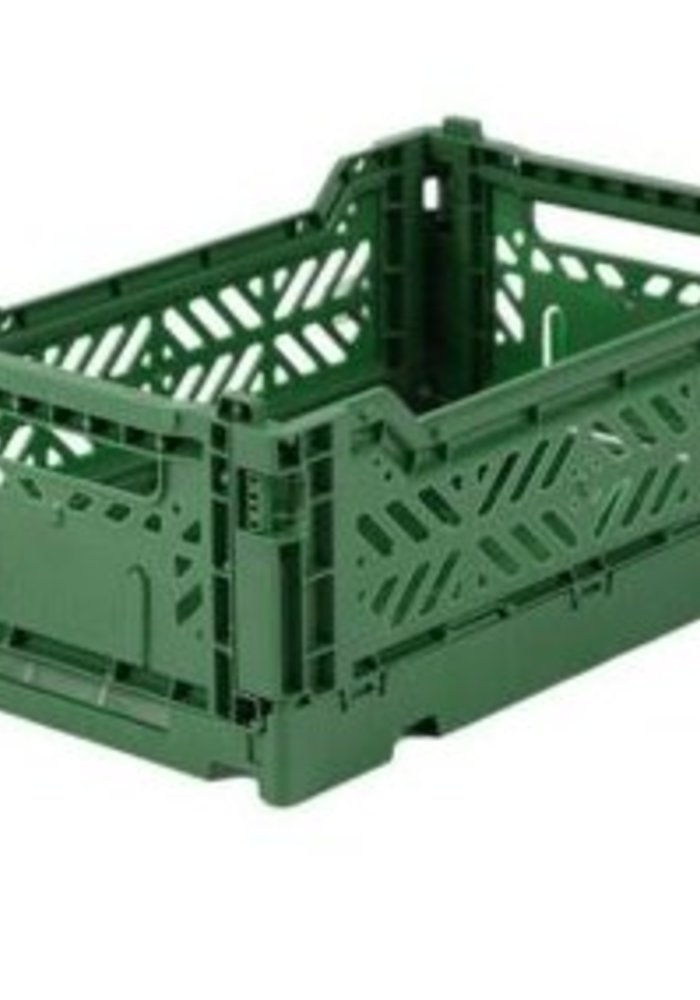 Lillemor Folding Crate  Mini - dark green