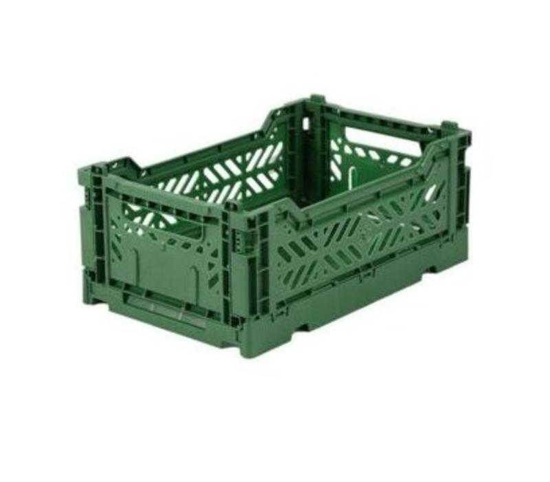 Lillemor Folding Crate  Mini - dark green