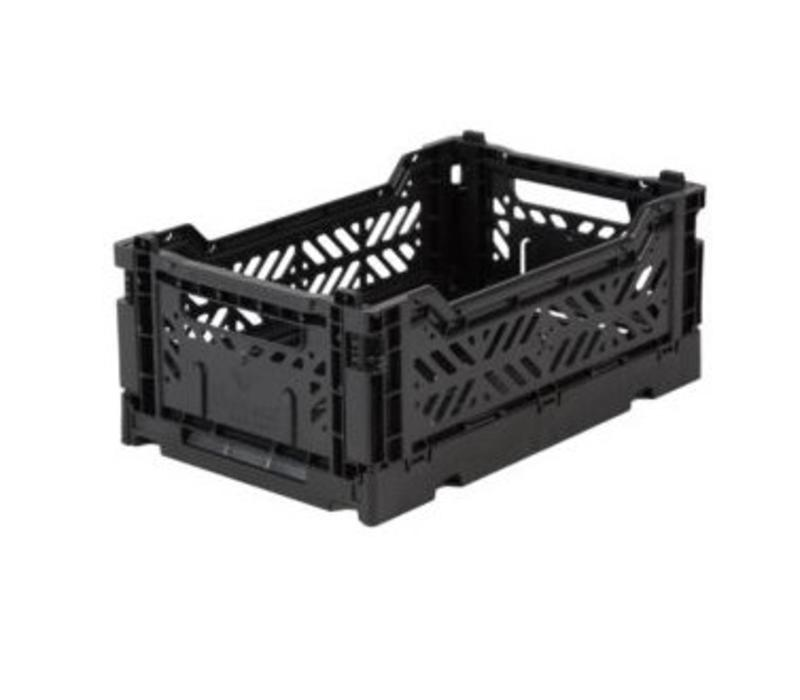 Lillemor Folding Crate Mini - black