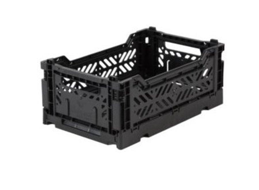 Lillemor Folding Crate Mini - black