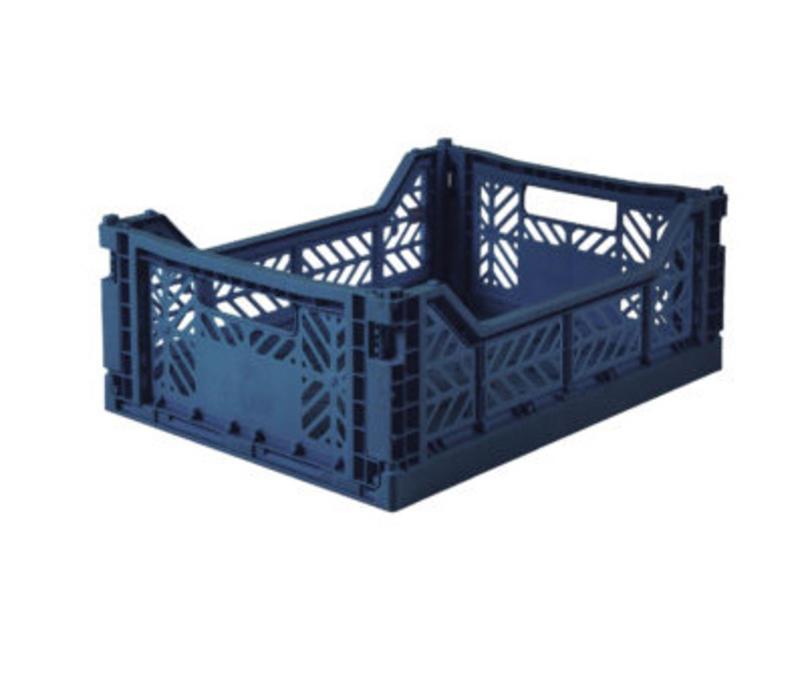 Lillemor Folding Crate Midi - navy