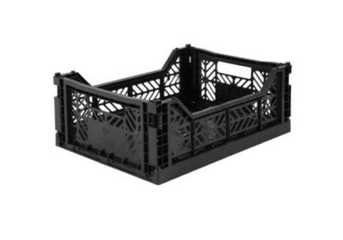 Eef Lillemor Lillemor Folding Crate Midi - black