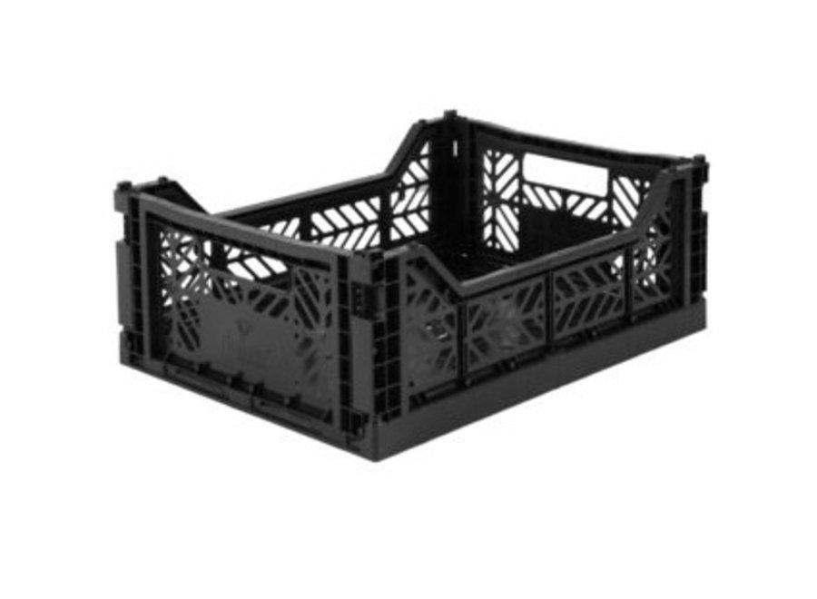 Lillemor Folding Crate Midi - black